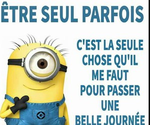 french, funny quote, and minions image
