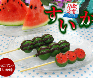 japanese, watermelon, and dango image