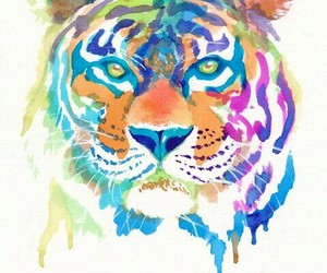 tiger, art, and animal image
