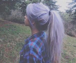 hair, purple, and grunge image