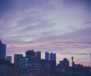 sky, city, and grunge image