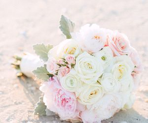 flowers, pink, and wedding image