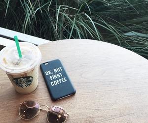 coffee, starbucks, and sunglasses image