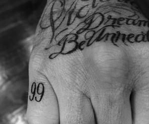 David Beckham, manchester united, and tattoo image