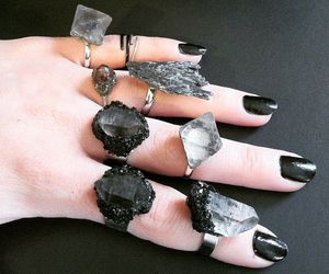 black, crystal, and goth image