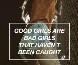 girl, bad, and good image