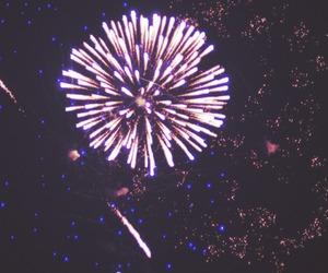 fireworks, sky, and night image