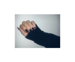 black, nails, and couple image