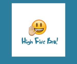 bro, five, and hand image