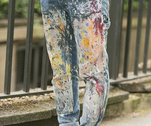 casual, loose pants, and colour image