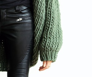 fashion, green, and black image