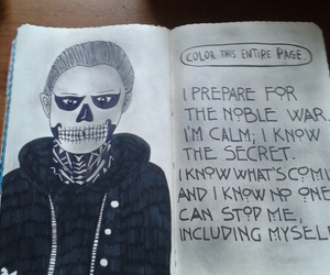 journal, skull, and tate image