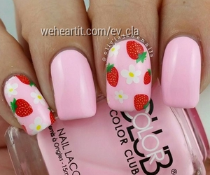 strawberries and summer image