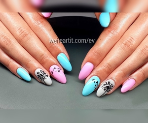 dandelion, girly, and nail art image