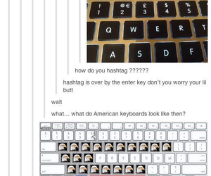 funny, keyboard, and tumblr image
