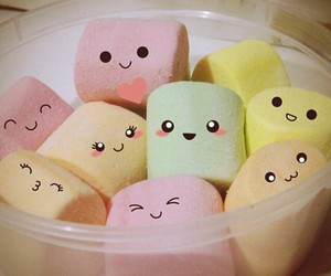 candy, marshmallow, and smileyface image