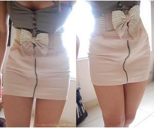 dress, bow, and skirt image