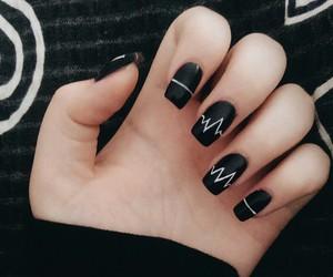 arctic monkeys, black, and nails image