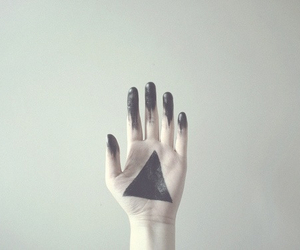 hand, black, and triangle image