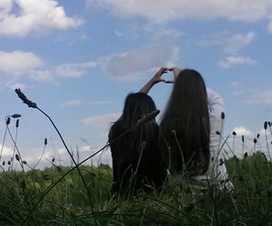 best friends, heart, and friendship image