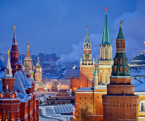 city, moscow, and russia image
