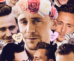 tom hiddleston, Collage, and flowers image