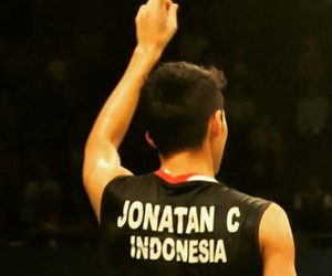 badminton, indonesia raya, and jonatan christie image