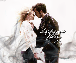 once upon a time, captain hook, and dark swan image