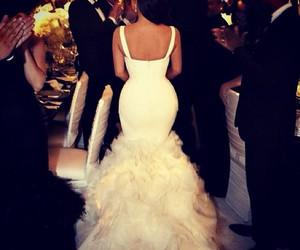 dress, wedding, and kim kardashian image
