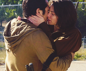 the walking dead, Maggie, and glenn image