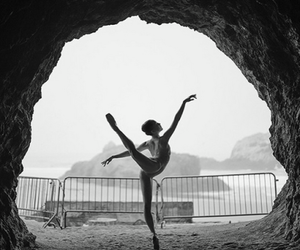 dance, ballet, and black and white image