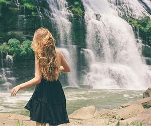 fashion, waterfall, and grunge image