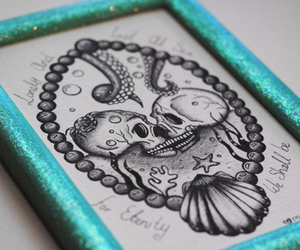 draw, drawing, and octopus image