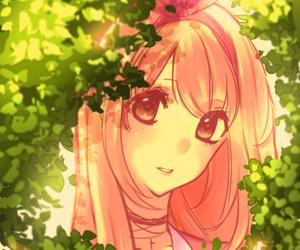 anime girl, green, and manga girl image