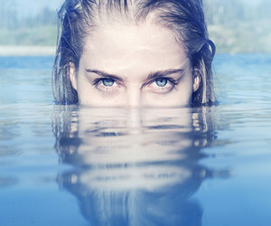 blue eyes, eyes, and water image