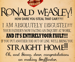 harry potter, ron weasley, and molly weasley image