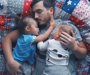 baby, family, and father image