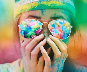 girl, colorful, and colors image