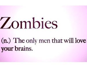 zombies, brain, and love image