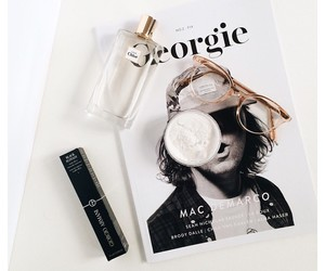 glasses and magazine image
