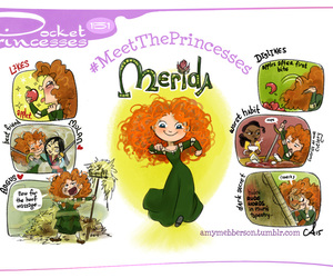 merida, disney, and pocket princesses image
