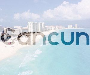 beach, beauty, and cancun image