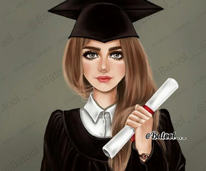 art, cartoon, and graduation image