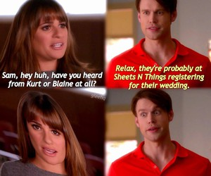 berry, glee, and lea michele image