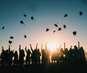 graduation, hat, and people image