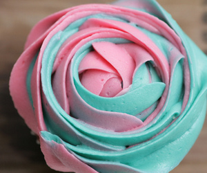 ice cream, pink, and blue image