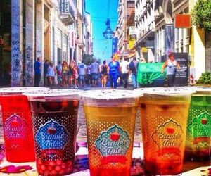 Athens, bubbles, and colorful image