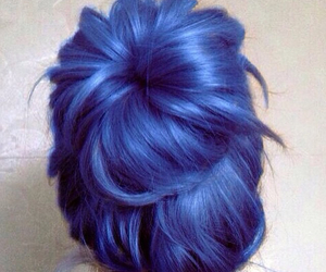 blue and hairstyle image