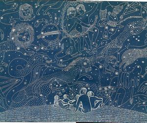 blue, constellations, and stars image