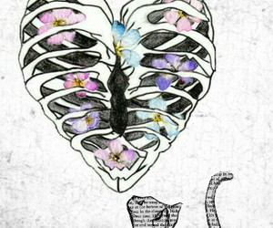 heart, flowers, and grunge image
